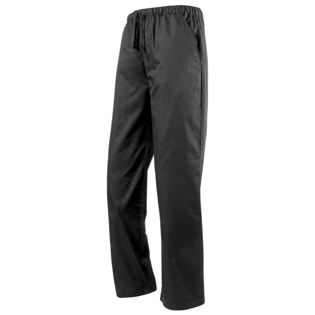 Black - Front - Premier Essential Unisex Chefs Trouser - Catering Workwear