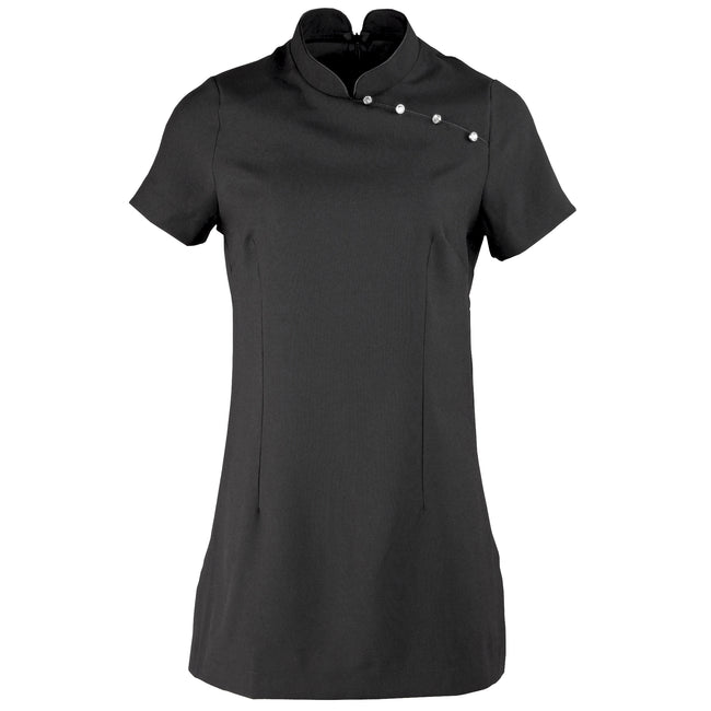 Black - Front - Premier Ladies-Womens *Mika* Tunic - Health Beauty & Spa - Workwear