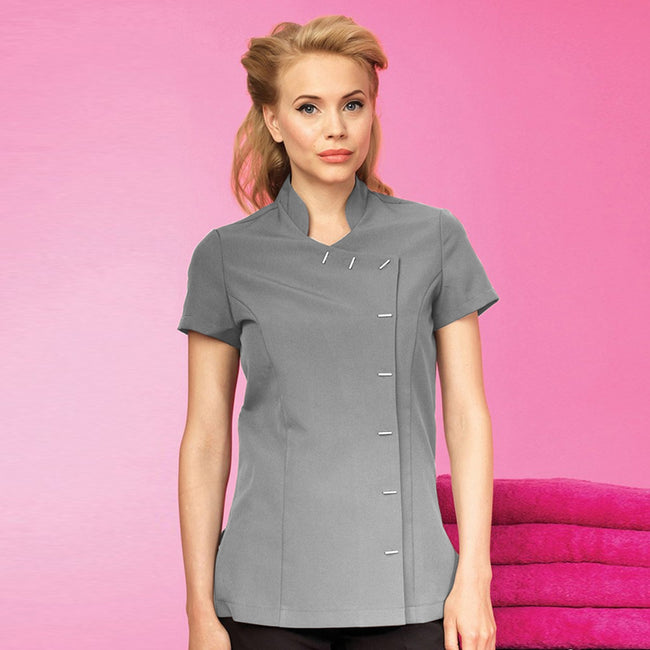 Silver - Back - Premier Womens-Ladies *Orchid* Tunic - Health Beauty & Spa - Workwear