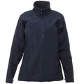 Navy-Navy - Front - Regatta Womens-Ladies Uproar Softshell Jacket (Water Repellent & Wind Resistant)