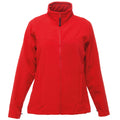 Classic Red-Seal Grey - Front - Regatta Womens-Ladies Uproar Softshell Jacket (Water Repellent & Wind Resistant)