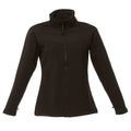 All Black - Front - Regatta Womens-Ladies Uproar Softshell Jacket (Water Repellent & Wind Resistant)