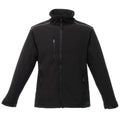 Black-Black - Front - Regatta Mens Sandstorm Hardwearing Workwear Softshell Jacket (water Repellent)