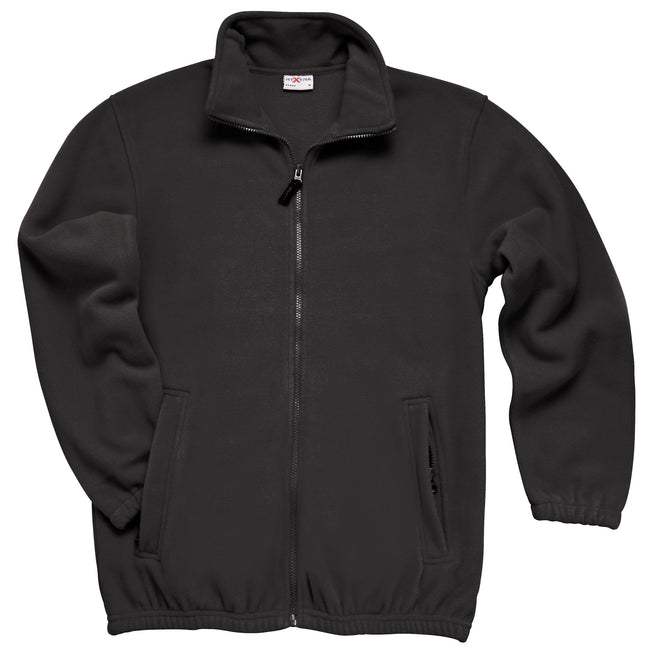 Black - Front - RTXtra Mens Classic Pill Resistant Fleece Jacket