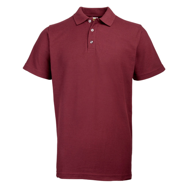 Burgundy - Front - RTY Workwear Mens Pique Knit Heavyweight Polo Shirt (S-10XL) - Extra Large Sizes