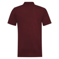 Burgundy - Back - RTY Workwear Mens Pique Knit Heavyweight Polo Shirt (S-10XL) - Extra Large Sizes