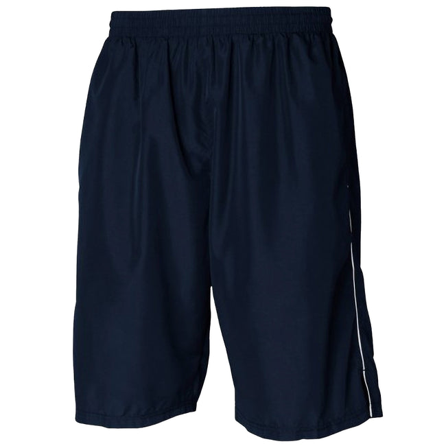 Navy-White - Front - Tombo Teamsport Mens Teamwear All Purpose Longline Lined Sports Short