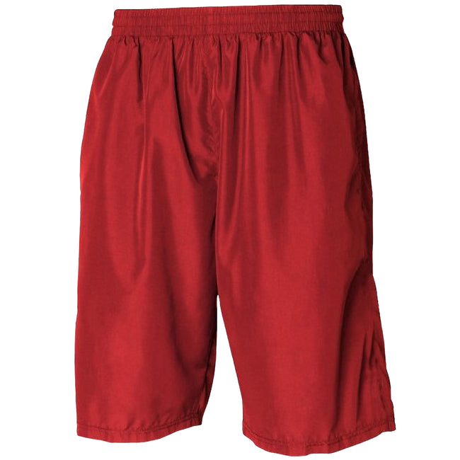 Red - Red - Front - Tombo Teamsport Mens Teamwear All Purpose Longline Lined Sports Short