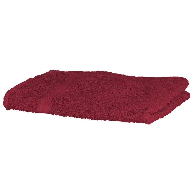 Deep Red - Front - Towel City Luxury Range 550 GSM - Hand Towel (50 X 90 CM)