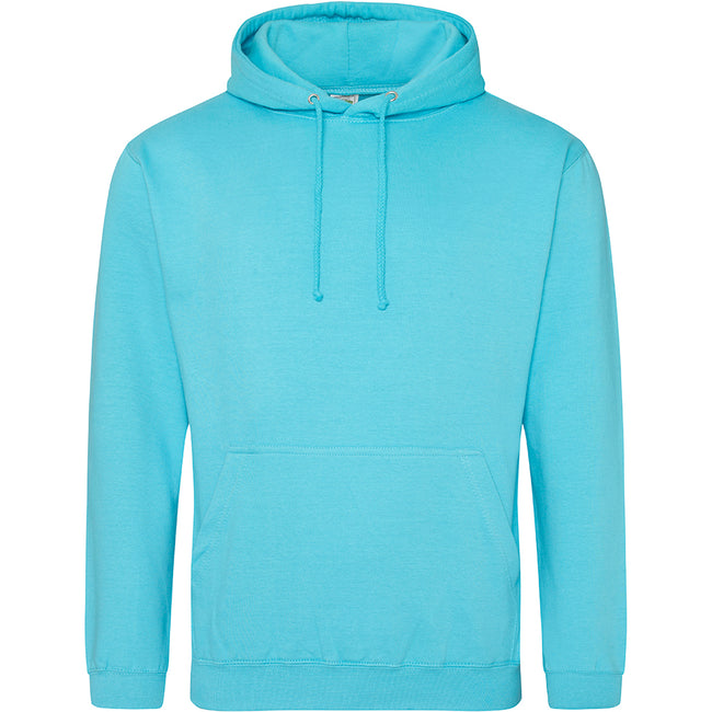 Turquoise Surf - Front - Awdis Unisex College Hooded Sweatshirt - Hoodie