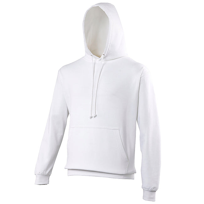 Arctic White - Front - Awdis Unisex College Hooded Sweatshirt - Hoodie