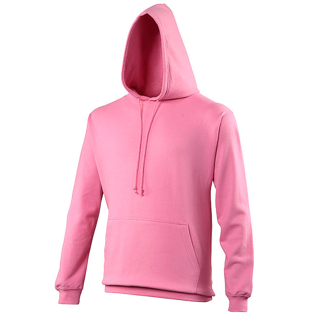Candyfloss Pink - Front - Awdis Unisex College Hooded Sweatshirt - Hoodie