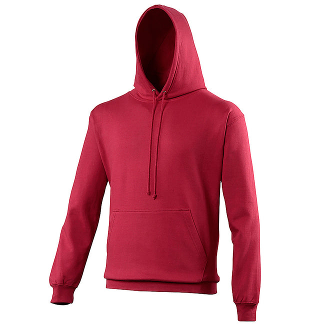 Cranberry - Front - Awdis Unisex College Hooded Sweatshirt - Hoodie