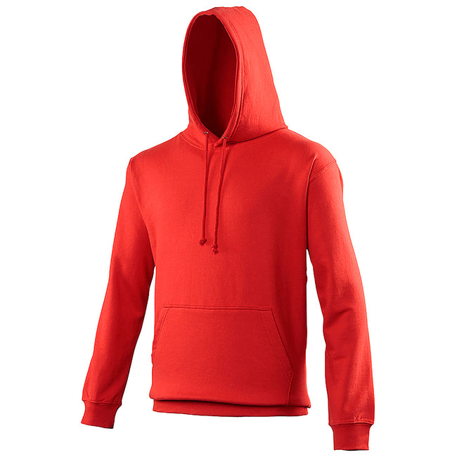 Fire Red - Front - Awdis Unisex College Hooded Sweatshirt - Hoodie