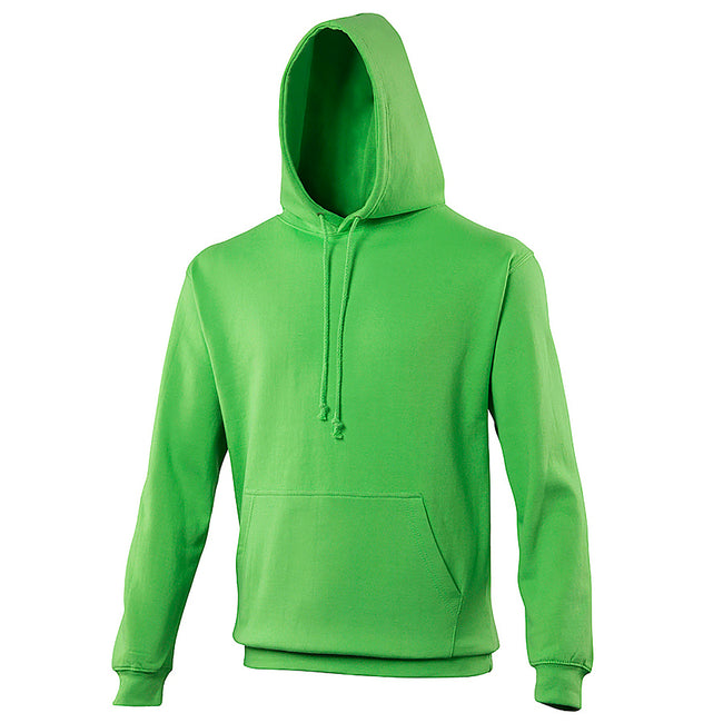 Lime Green - Front - Awdis Unisex College Hooded Sweatshirt - Hoodie