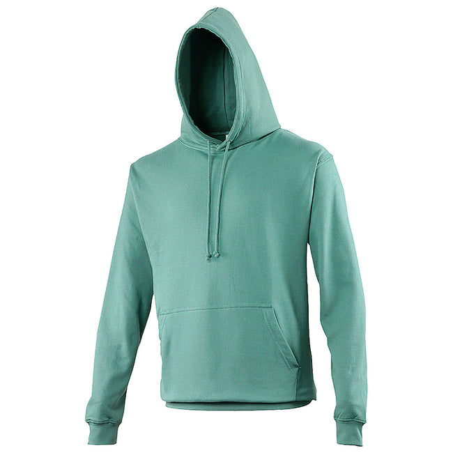 Moss Green - Front - Awdis Unisex College Hooded Sweatshirt - Hoodie