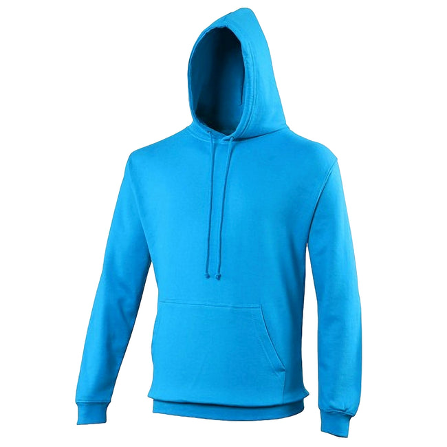 Tropical Blue - Front - Awdis Unisex College Hooded Sweatshirt - Hoodie