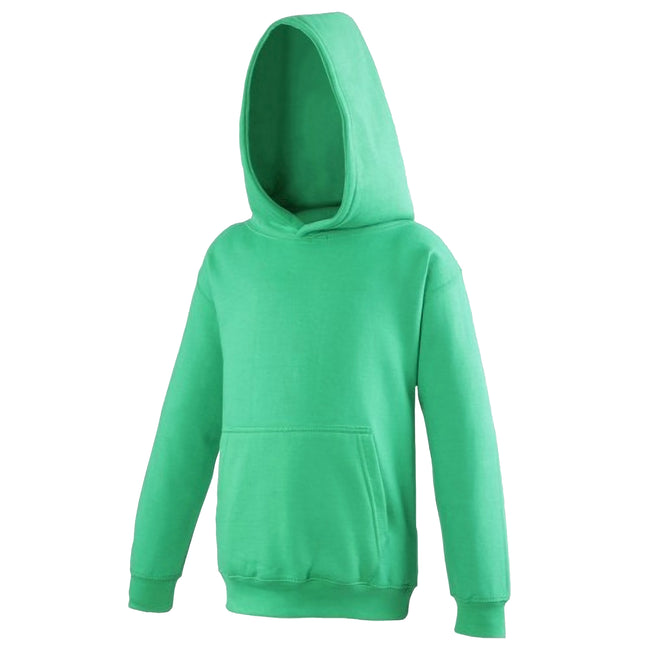 Kelly Green - Front - Awdis Kids Unisex Hooded Sweatshirt - Hoodie - Schoolwear