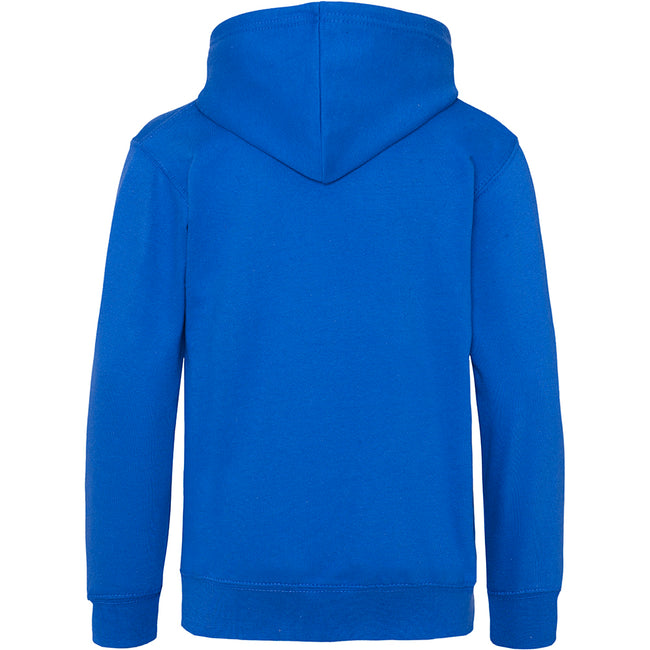 Royal Blue - Back - Awdis Kids Unisex Hooded Sweatshirt - Hoodie - Schoolwear