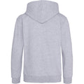 Heather Grey - Back - Awdis Kids Unisex Hooded Sweatshirt - Hoodie - Schoolwear