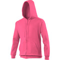 New French Navy - Back - Awdis Plain Mens Hooded Full Zip Hoodie - Zoodie