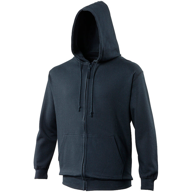 Sun Yellow - Back - Awdis Plain Mens Hooded Full Zip Hoodie - Zoodie