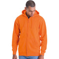Kelly Green - Front - Awdis Plain Mens Hooded Full Zip Hoodie - Zoodie