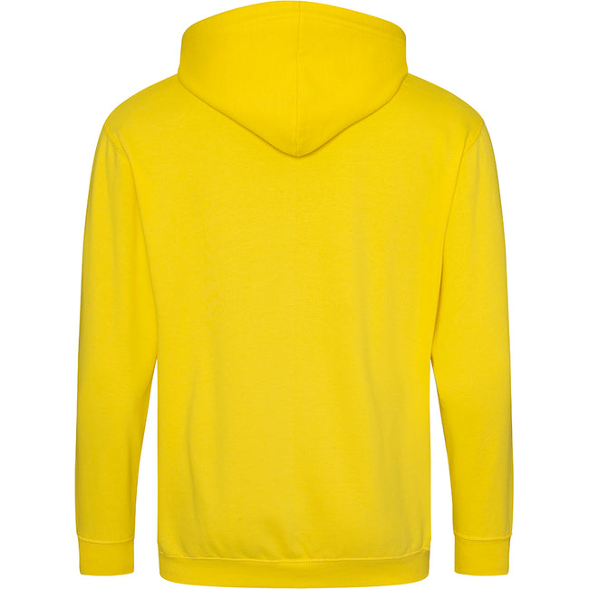 Ash - Front - Awdis Plain Mens Hooded Full Zip Hoodie - Zoodie