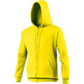 Bottle Green - Front - Awdis Plain Mens Hooded Full Zip Hoodie - Zoodie