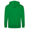 Fire Red - Front - Awdis Plain Mens Hooded Full Zip Hoodie - Zoodie