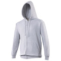 Red Hot Chilli - Front - Awdis Plain Mens Hooded Full Zip Hoodie - Zoodie