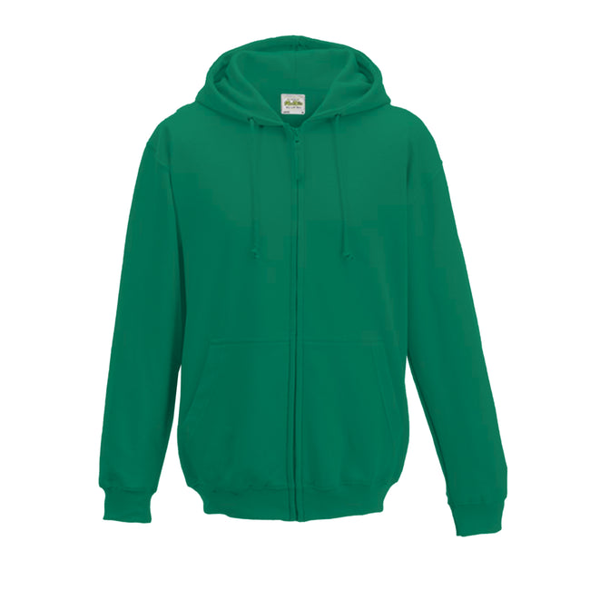 Sapphire Blue - Front - Awdis Plain Mens Hooded Full Zip Hoodie - Zoodie
