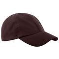 Chocolate - Front - Beechfield Junior Low Profile Baseball Cap - Schoolwear - Headwear