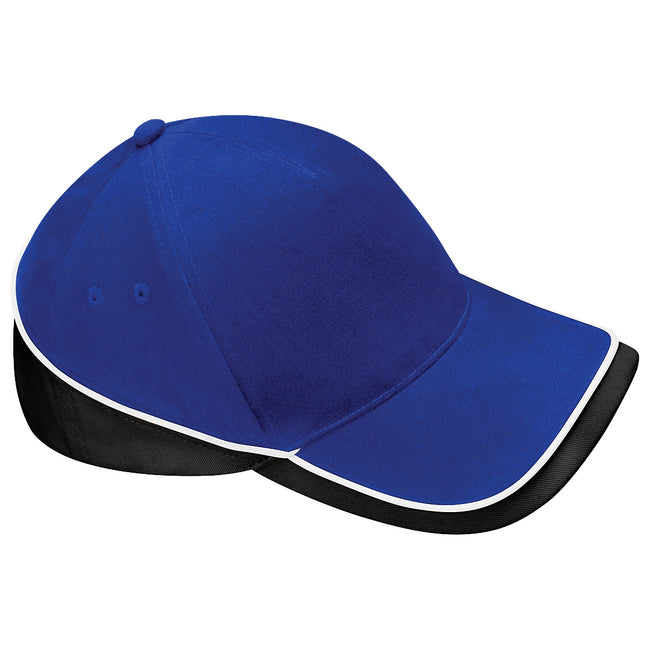 Bright Royal-White - Front - Beechfield Unisex Teamwear Competition Cap Baseball - Headwear