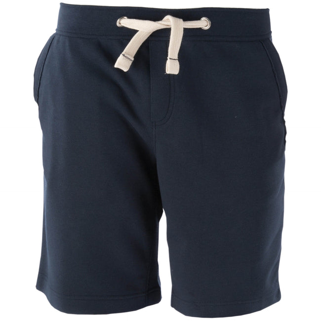 Navy - Front - Kariban Mens Fleece Sports Shorts
