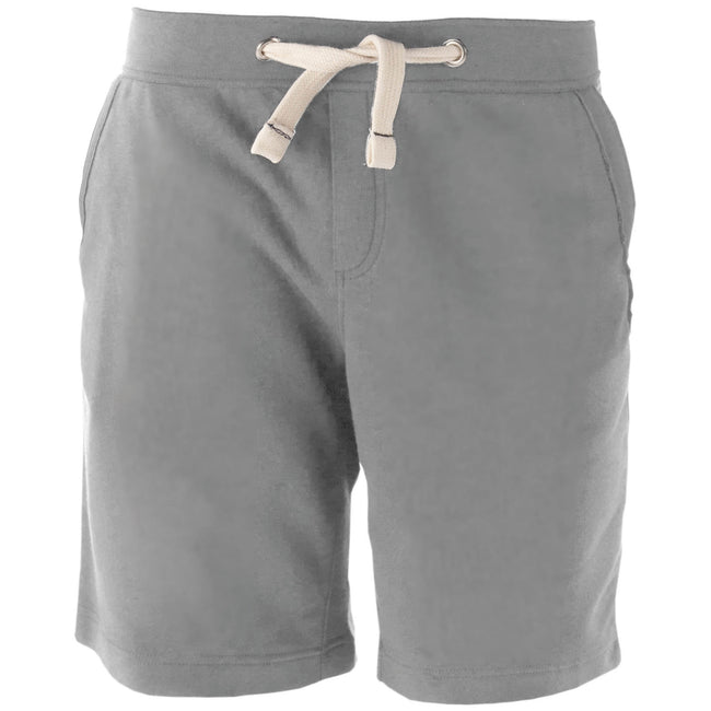 Oxford Grey - Front - Kariban Mens Fleece Sports Shorts