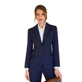 Navy - Front - Brook Taverner Ladies-Womens Novara Semi Fitted Suit Jacket