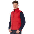 Red - Side - B&C Mens Full Zip Waterproof Bodywarmer-Gilet