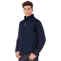 Navy - Back - B&C Mens Full Zip Waterproof Bodywarmer-Gilet