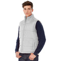 White - Back - B&C Mens Full Zip Waterproof Bodywarmer-Gilet