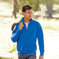 Royal Blue - Back - Fruit Of The Loom Mens Premium 70-30 Zip Neck Sweatshirt