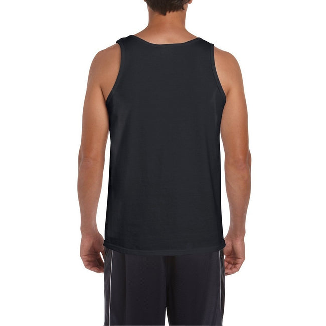 White - Front - Gildan Mens Softstyle® Tank Vest Top