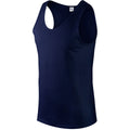 Navy - Side - Gildan Mens Softstyle® Tank Vest Top