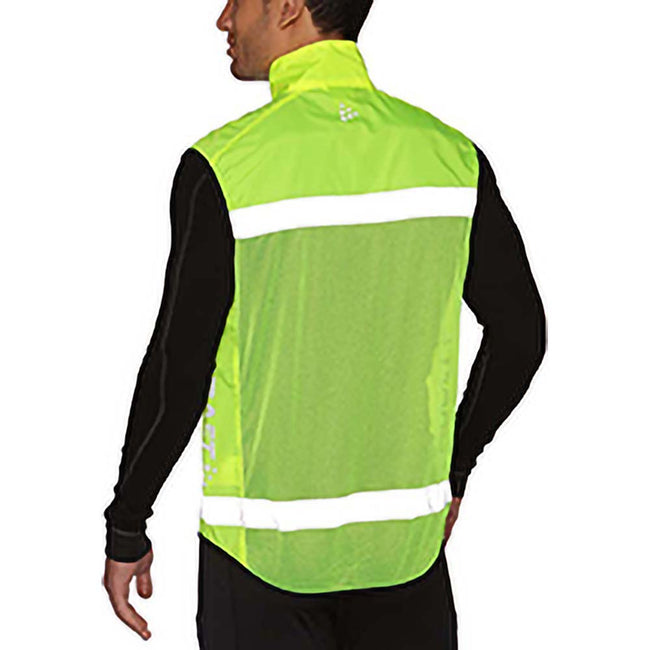 Neon - Side - Craft Active Run Hi-Vis Safety Vest - Safetywear