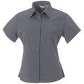 Zinc - Back - Russell Collection Womens-Ladies Short Sleeve Classic Twill Shirt