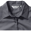 Zinc - Pack Shot - Russell Collection Womens-Ladies Short Sleeve Classic Twill Shirt