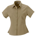 French Navy - Front - Russell Collection Womens-Ladies Short Sleeve Classic Twill Shirt
