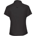 Black - Back - Russell Collection Womens-Ladies Short Sleeve Classic Twill Shirt