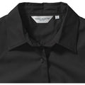 Black - Lifestyle - Russell Collection Womens-Ladies Short Sleeve Classic Twill Shirt