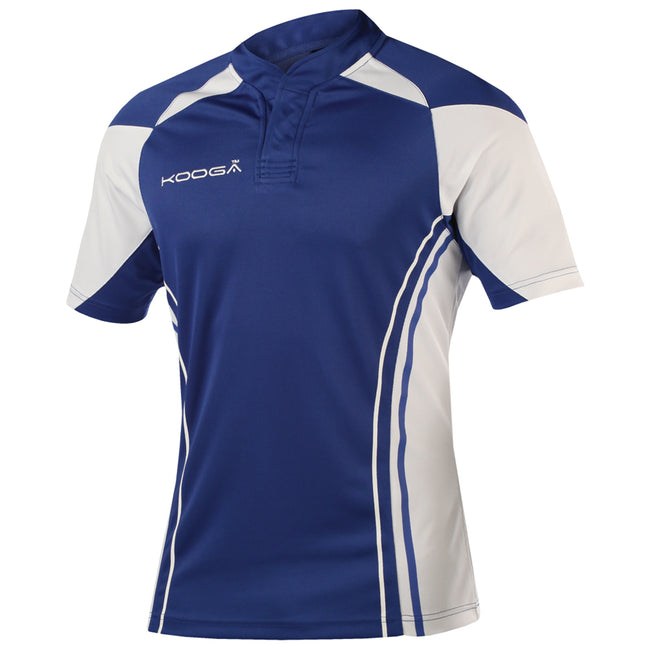 Royal-White - Front - KooGa Mens Stadium Match Rugby Shirt